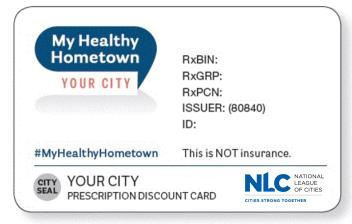 NLC Prescription Card