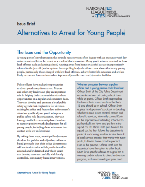 report - Alternatives to Arrest for Young People