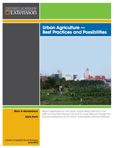Cover - Urban Agriculture Best Practices and Possibilities