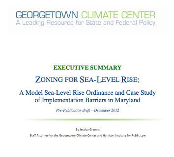 Cover - Zoning for Sea-Level Rise Executive Summary
