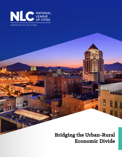 report cover for bridging the urban rural economic divide