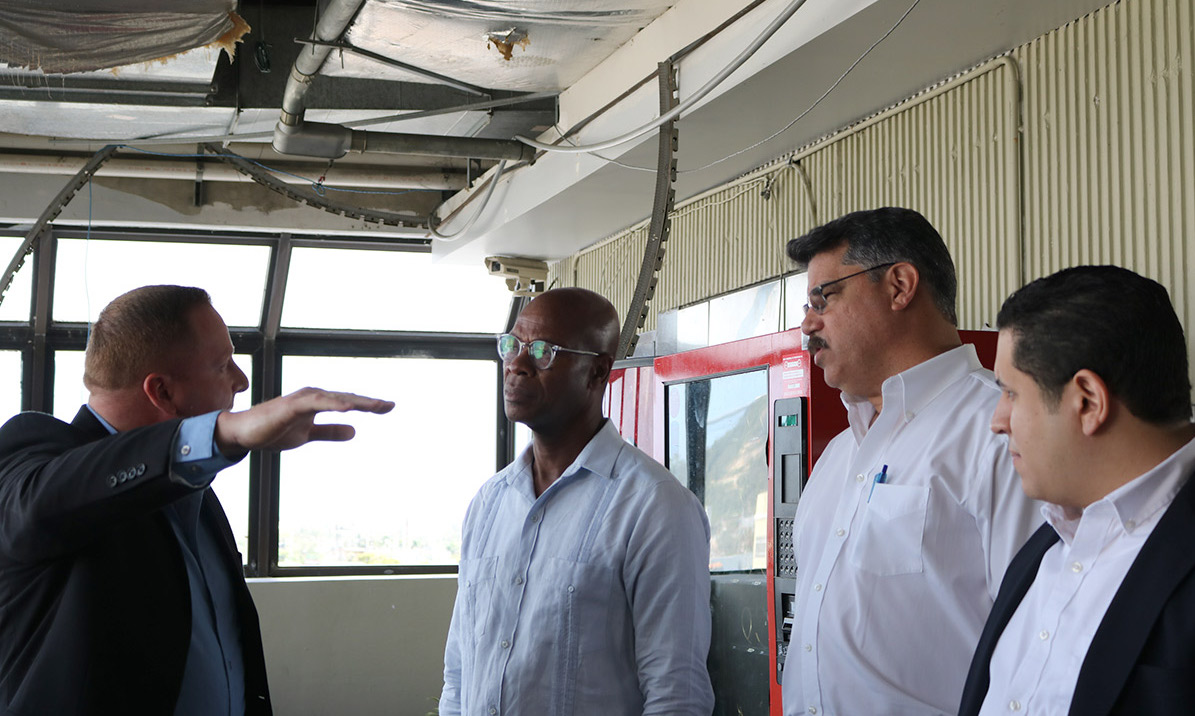 NLC CEO Clarence Anthony and City of Orlando Commissioner Tony Ortiz see the damage caused by Hurricane Maria with officials from the city of Bayamón, Puerto Rico. Meri St. Jean/NLC
