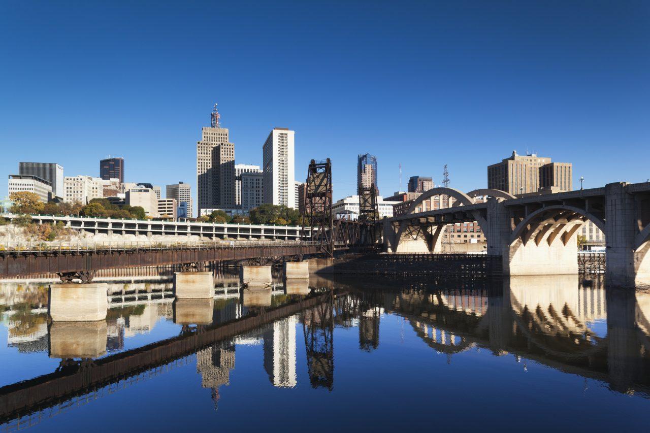 St Paul, Minnesota Skyline